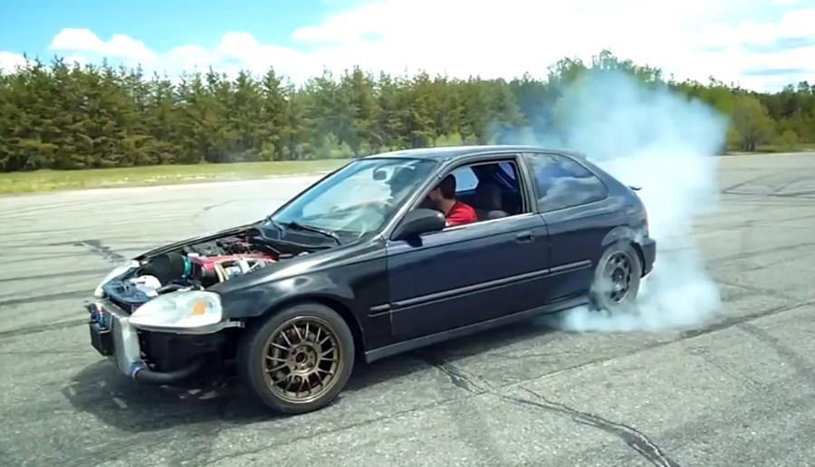 Honda Civic Rwd Drift Conversion With Engine